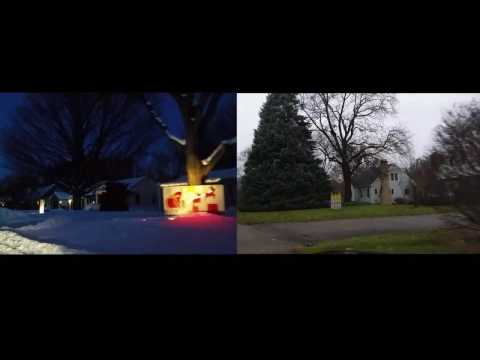 Kalamazoo S Christmas Card Lane With And Without The Lights