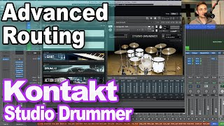 Kontakt Studio Drummer Advanced Tips: Routing Kontakt Multi Output in Logic Pro X