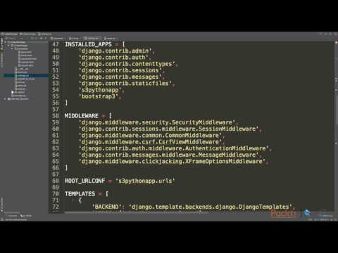 AWS Certi Dev - Associate Tut - Step 1 :Simple Django Python App Reading Data from S3   packtpub.com