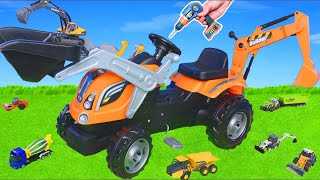 Excavator & Tractor Ride on Assembly, Trucks, Cars, Bulldozer & Construction Toy Vehicles for Kids