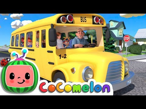 Wheels on the Bus  Cocomelon ABCkidTV Nursery Rhymes & Kids Songs