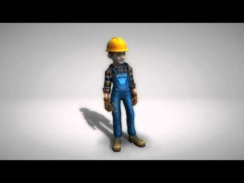 animated cartoon construction worker