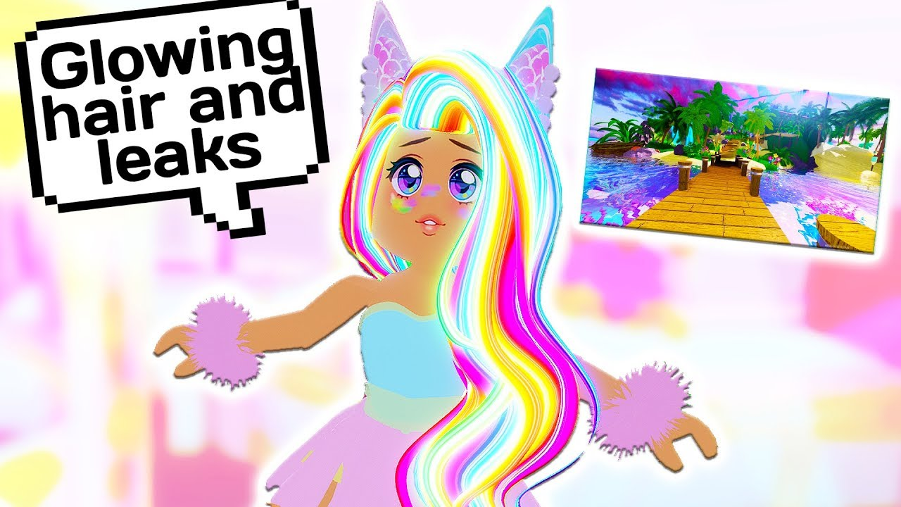 How You Can Get Glowing Hair Sunset Island Leaks Roblox Royale High School Youtube
