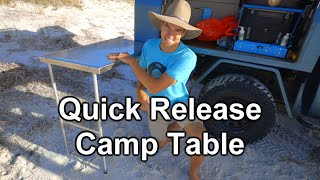 DIY Quick Release Camp Table   4x4 Touring