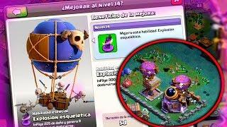 MEJORAMOS EL GLOBO ESQUELETICO AL MAXIMO!! | Clash of Clans | Rubinho vlc