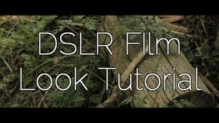 DSLR Film/ Cinematic Look Tutorial(UPDATE: This video was made years ago and I have learned much since then. The