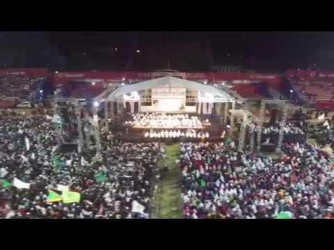 Kediri Bersholawat Habib Syech bin Abdul Qodir Assegaf - HUT Kota Kediri ke 1137 - Aerial 2016