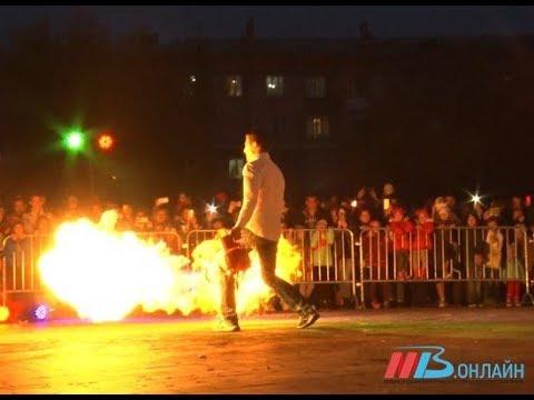 Феерическое фаер шоу в Краснооктябрьском районе