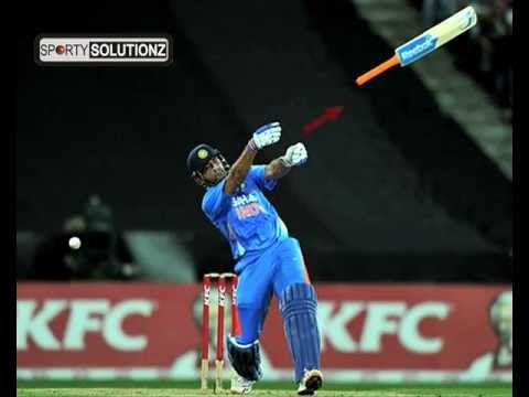 DHONI BAT BECOMES HELICOPTER.mp4 - YouTube Mahendra Singh Dhoni Helicopter Shot Video