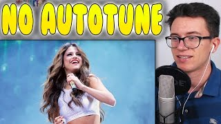 Today i'm reacting to selena gomez's live voice without autotune. be sure suggest more videos that i should react to. ►subscribe: http://goo.gl/yravxm t...