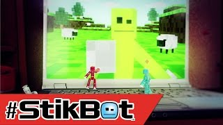 Stikbot vs Minecraft