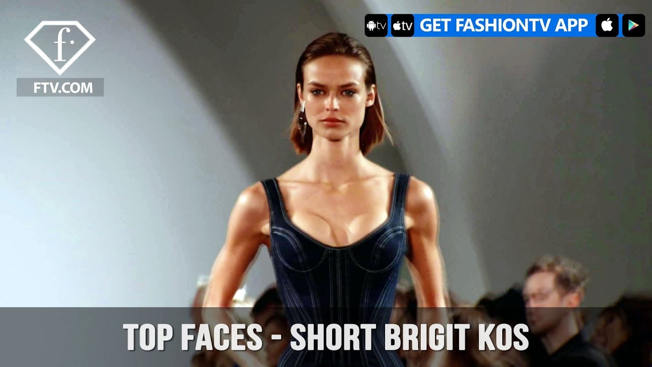 Birgit Kos Top Faces Dutch Beautiful Model Spring/Summer 2018 | FashionTV |  FTV
