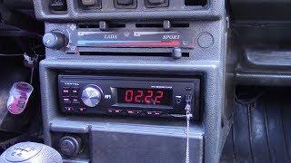 Установка автомагнитолы LENTEL в ВАЗ 21083