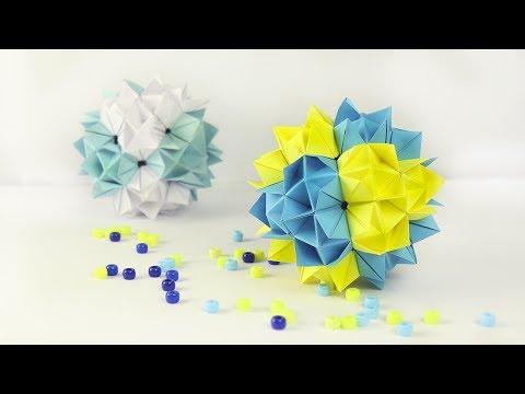 Как из бумаги сделать шар оригами из бумаги