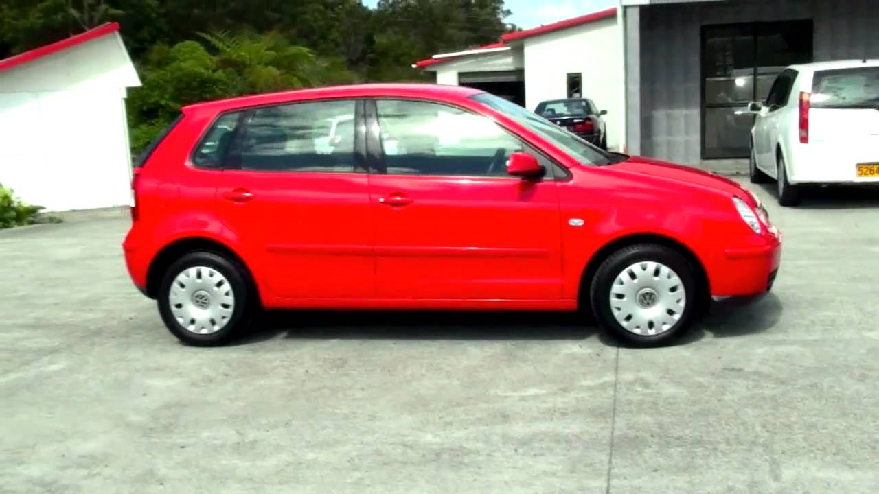 volkswagen polo 2003 red 95 kms 1 4l auto youtube. Black Bedroom Furniture Sets. Home Design Ideas