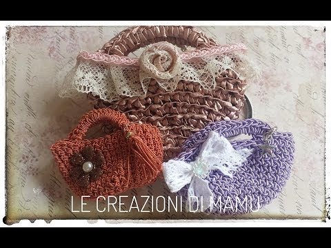 Mini Borsetta Ad Uncinetto Fili E Forme Tutorial Crochet Youtube