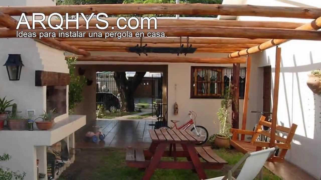 Pergolas de madera y policarbonato youtube for Pergola policarbonato