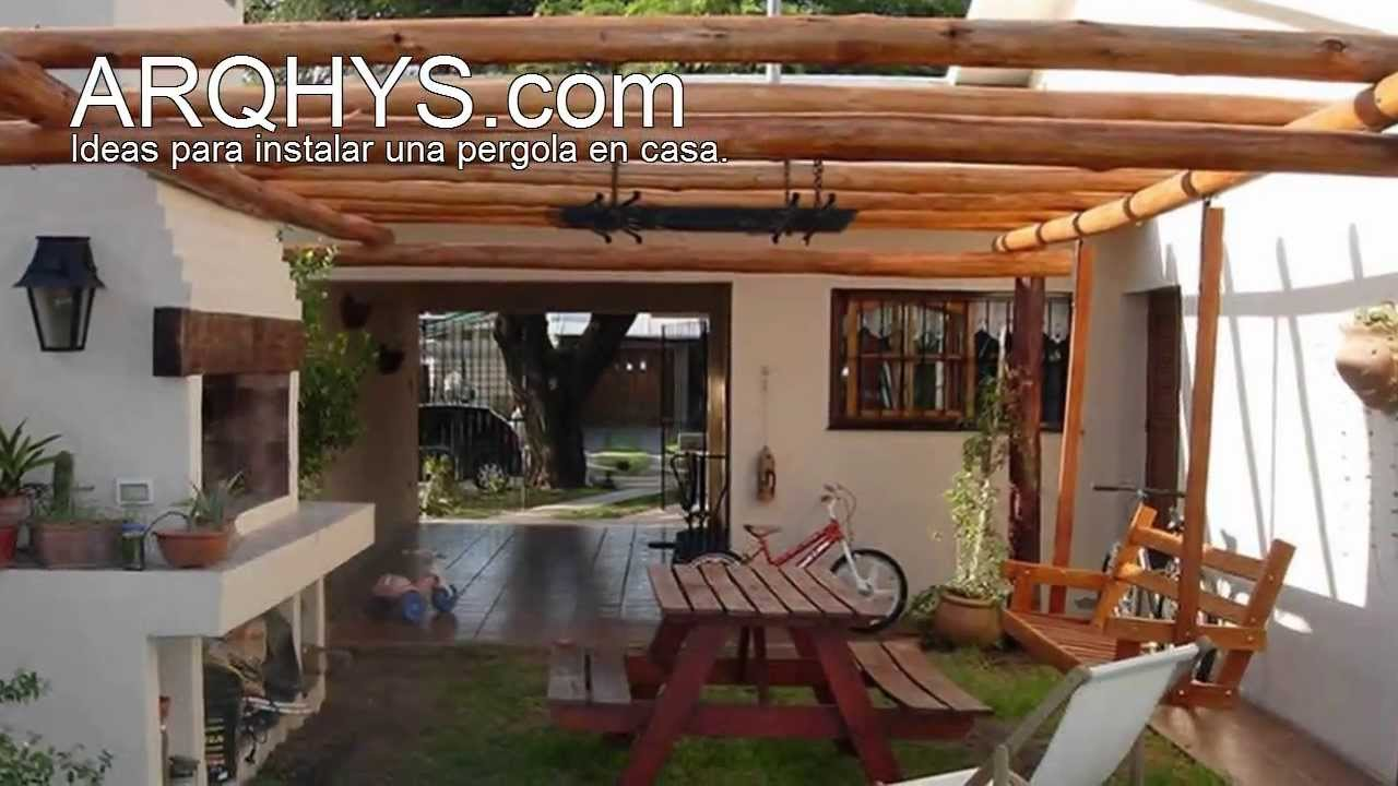 Pergolas de madera y policarbonato youtube for Pergolas para jardin
