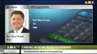 PORR-CEO Strauss: Sind in Märkten tätig, die wachsen
