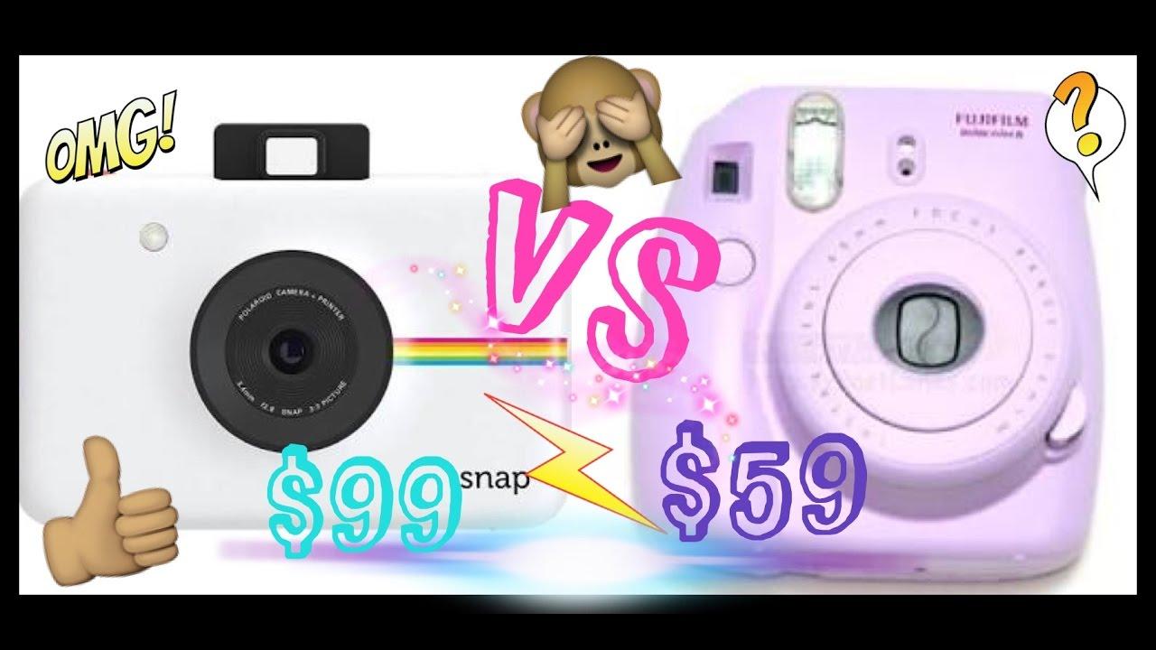 Polaroid Vs Instax >> POLAROID SNAP VS FUJIFILM INSTAX MINI 8 / Yessid Rossette - YouTube