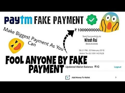 Best PAYTM Payment spoof to fool your friends || In Hindi | Youtube