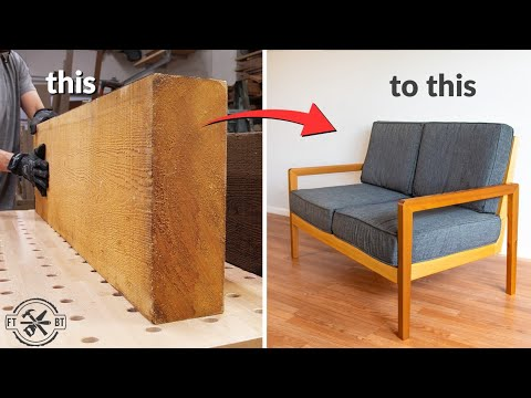 How To Make A Sofa From Rough Wood Diy Woodworking Youtube