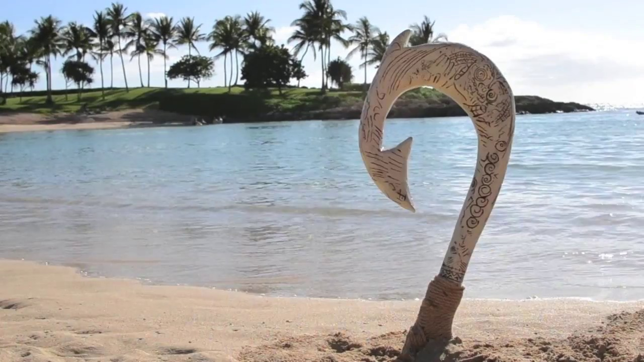 The making of maui 39 s magical fish hook youtube for Magical fish hook