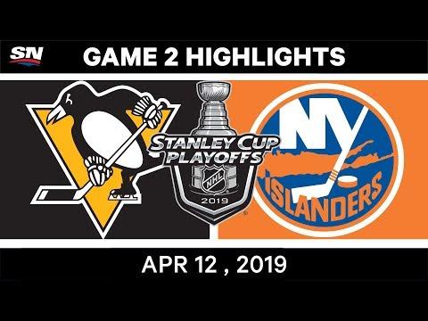 NHL Highlights   Pittsburgh Penguins Vs New York Islanders, Game 2 – Apr 12, 2019
