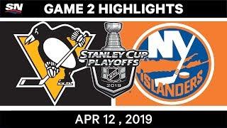 NHL Highlights | Pittsburgh Penguins vs New York Islanders, Game 2 – Apr 12, 2019