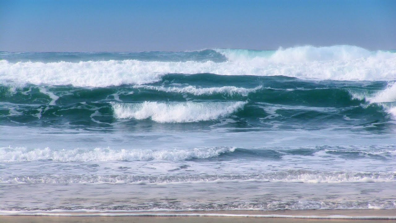Breaking Waves - 1 Hour of Beautiful Pacific Ocean Waves ... Pacific Ocean Waves