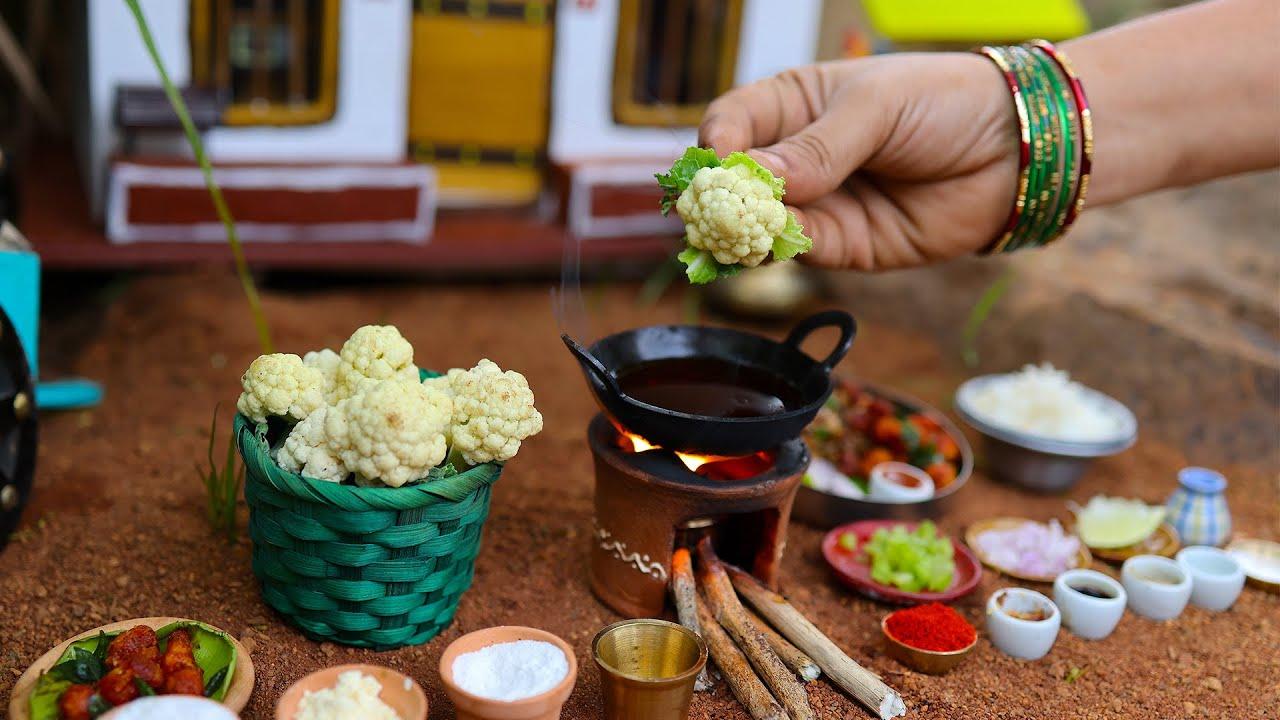 Crispy Cauliflower Fry Recipe + Gobi Fried Rice | How To Make Street Style Gobi 65 | The Tiny Foods