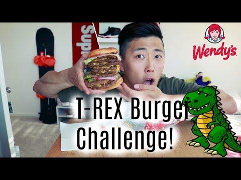 Wendy's T-Rex burger challenge!