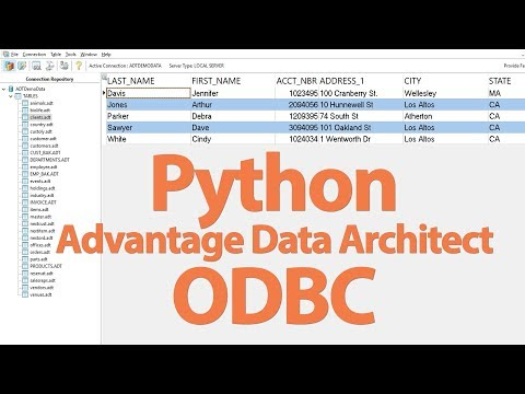 How to Connect to Advantage Data Architect with Python Via ODBC