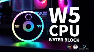 Pacific W5 CPU Water Block with Built-in Water Temperature Sensor