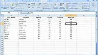 Excel 2007 - Sorting Data In Single Columns And Whole Tables