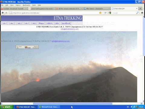 PART 1- Etna and Iceland with Live eruption & Iceberg crumble 30072011
