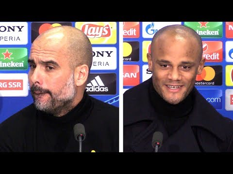 Pep Guardiola & Vincent Kompany Full Pre-Match Press Conference - Basel v Manchester City