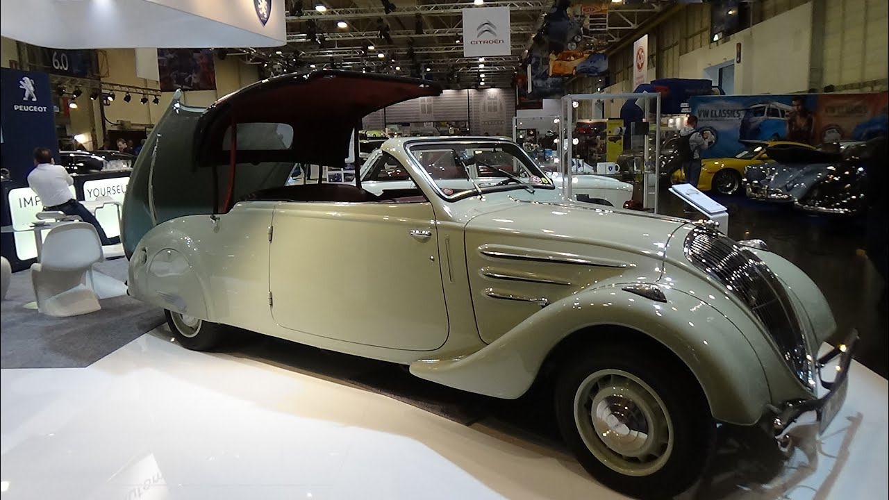 1934 peugeot 402 eclipse exterior and interior techno classica essen 2015 youtube. Black Bedroom Furniture Sets. Home Design Ideas