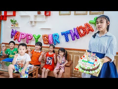 Kids Go To School | Day Birthday Of Chuns My sister at home making cake Picture Of 2 Children