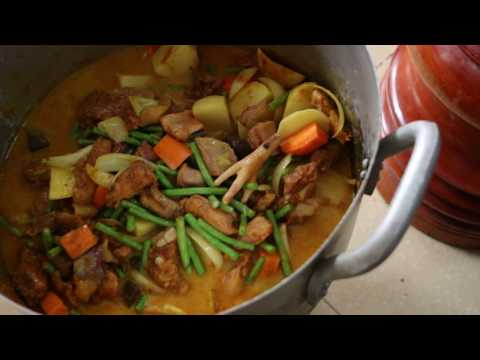 Thumbnail: Cambodian Traditional Food -Chicken Curry With Mix Vegetables - Popular Traditional Food In Asia