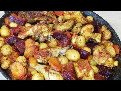 fricassÉe-de-poulet-rÔtie-aux-pommes-de-terre-et-lÉgumes-facile-(cuisine-rapide)