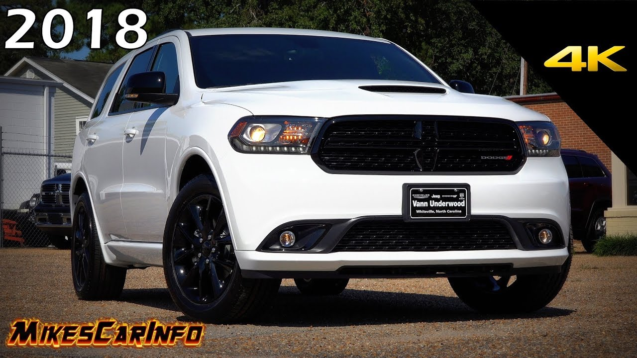 2018 Dodge Durango Gt Blacktop Ultimate In Depth Look In
