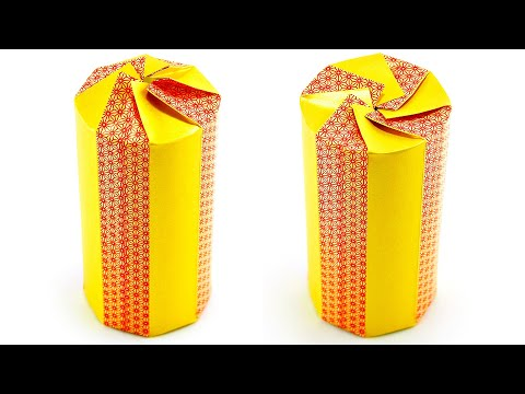 How To Wrap A Cylinder Box Beautifully With Piece Of Tape