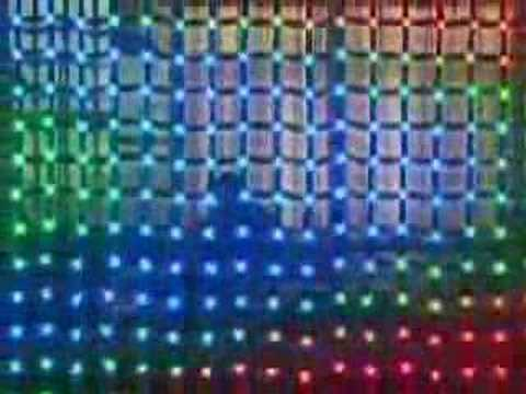 Led Mesh Transparent Wall Use Pixel Lamps And A Soft Cloth