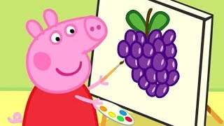Peppa Pig - Learn to Draw Fruits with Peppa! 🍎Drawing for Kids - Learning with Peppa Pig thumbnail