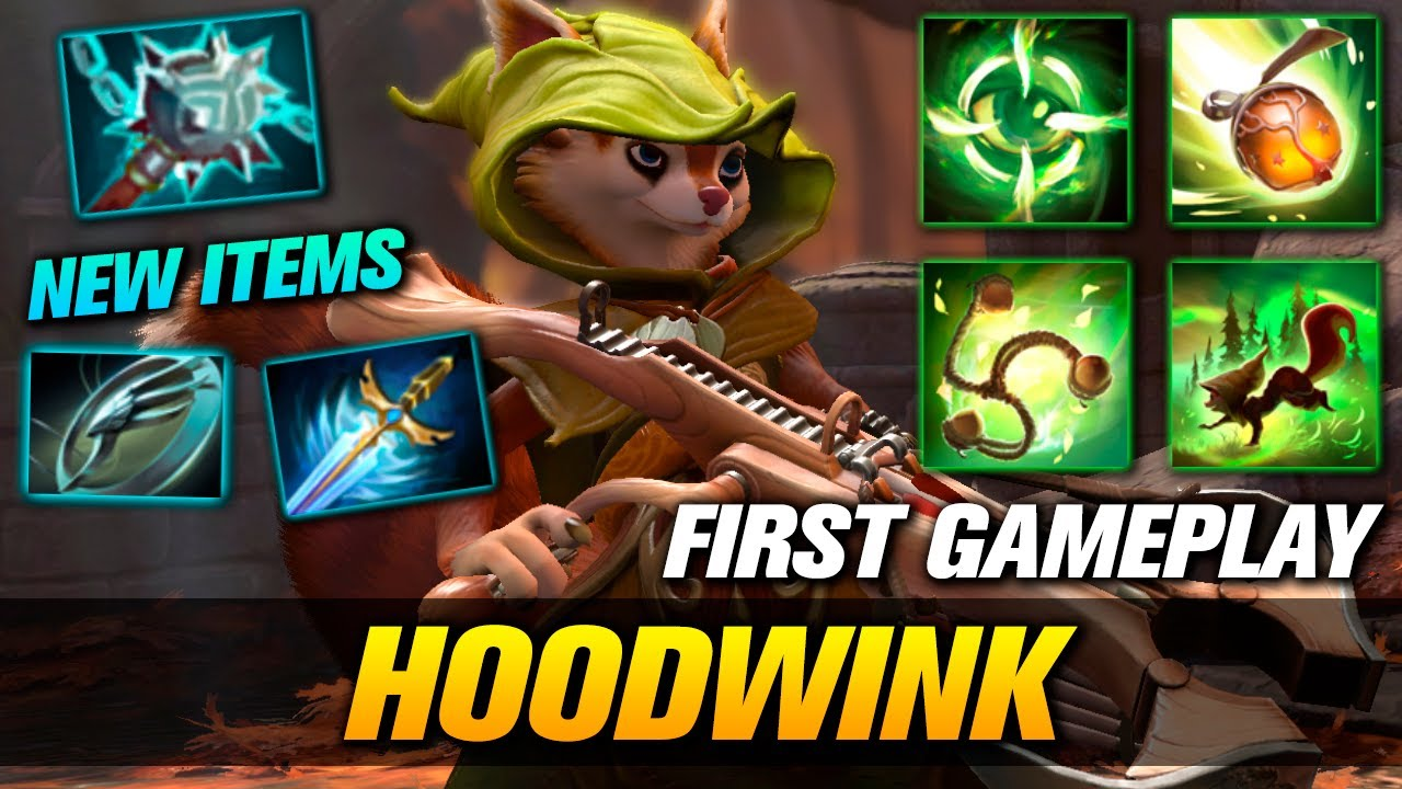 HOODWINK First Gameplay - Dota 2 New Hero Patch 7.28 - YouTube