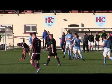 Adam Porritt scores for Nairn at Keith 20th Oct 2018