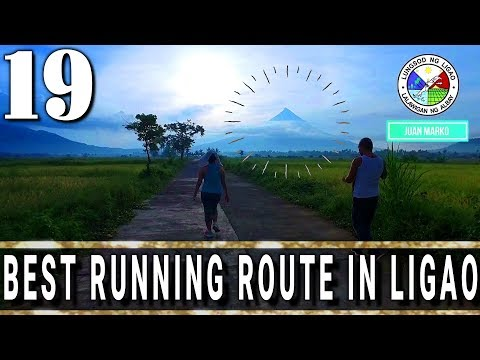 The best running route in Ligao Albay