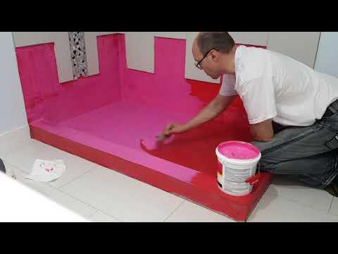 Redgard Waterproofing Membrane Гидроизоляция пола душевой