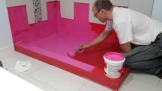 RedGard Waterproofing Membrane. Гидроизоляция пола душевой